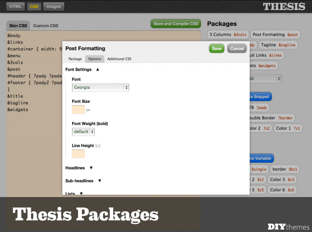 Thesis Packages