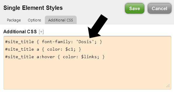 Google Font Code im CSS einfügen